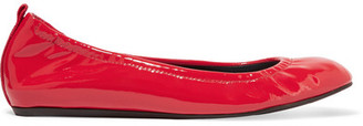 Lanvin - Patent-leather Ballet Flats - Red $525 thestylecure.com