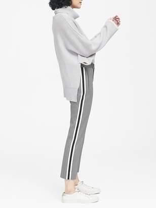 Banana Republic Petite Avery Straight-Fit Herringbone Side-Stripe Ankle Pant