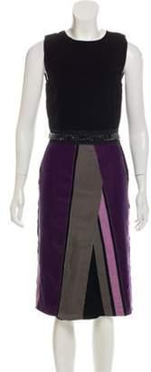 Bottega Veneta Velvet Sleeveless Midi Dress Black Velvet Sleeveless Midi Dress