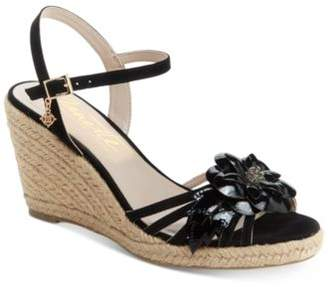 Nanette Lepore Nanette by Quince Floral Wedge Sandals, Created for Macy's