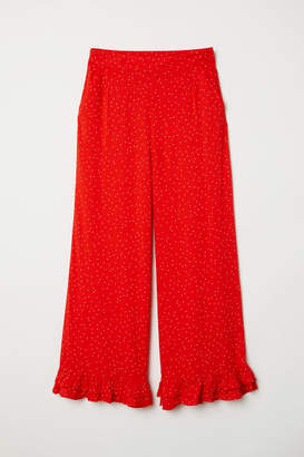 H&M Ankle-length Pants - Red