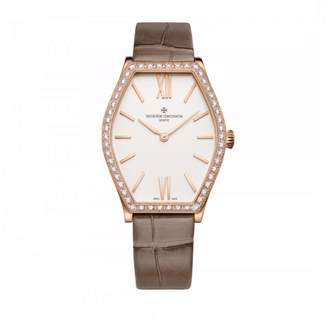 Vacheron Constantin 25530/000r-9742 Malte 18K Rose Gold Diamond 28.4mm x 34.4mm Watch $22,400 thestylecure.com