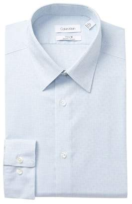 Calvin Klein Check Print Stretch Slim Fit Dress Shirt