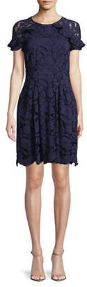 Vince Camuto Ruffle Shoulder Lace Dress