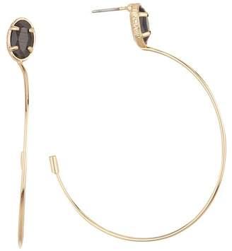 14th & Union Stone 47mm Hoop Earrings