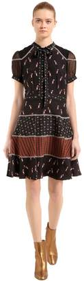 Coach Penguins Print Silk Cady Dress