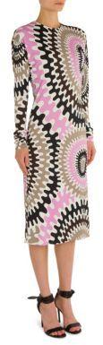 Emilio Pucci Silk-Blend Jersey Dress $1,370 thestylecure.com
