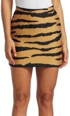 Proenza Schouler Tiger-Print Jacquard Mini Skirt