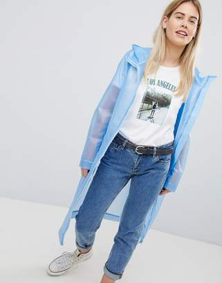clear ASOS DESIGN lightweight rain jacket
