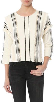 Moon River Trim Detail French Terry Top