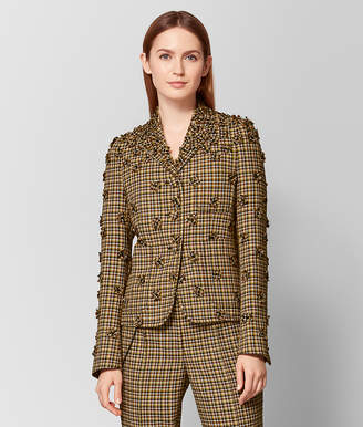 Bottega Veneta DARK CAMEL/MUSTARD WOOL JACKET