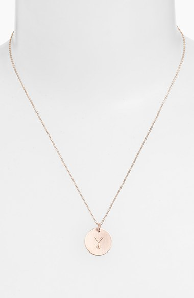 Women's Nashelle 14K-Gold Fill Initial Disc Necklace 5