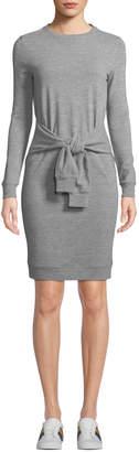 Romeo & Juliet Couture Sweatshirt Sheath Dress with Waistline Tie