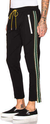 Rhude Traxedo Pant in Black & Green & Gold | FWRD