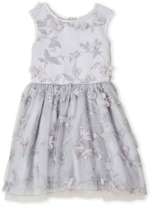 Nanette Lepore Girls 7-16) Silver Floral Petal Dress