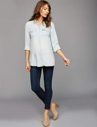 Luxe Essentials Denim Under Belly Ankle Maternity Jeans
