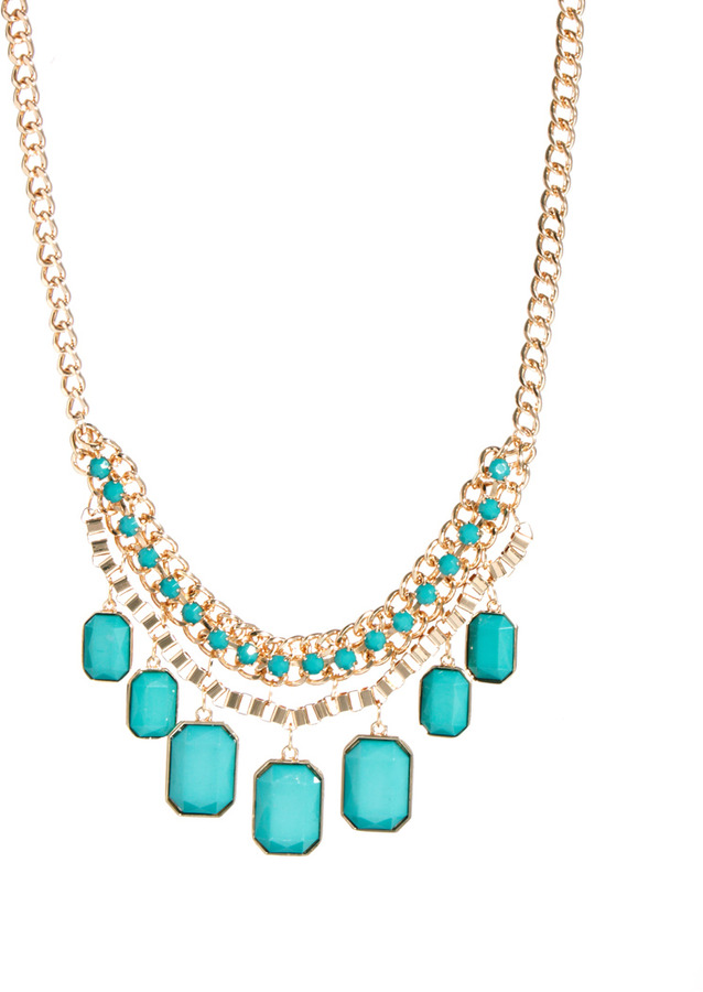 Johnny Loves Rosie Chunky Chain Necklace with Drop Jewel