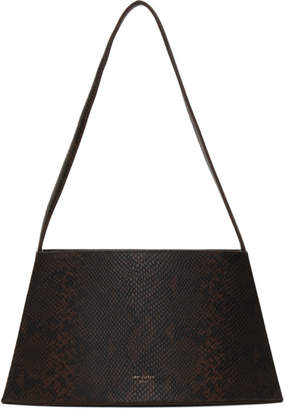 Low Classic Brown and Black Python Curve Bag