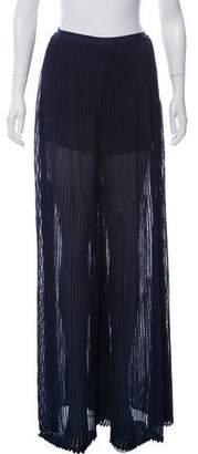 Herve Leger Rib Knit Wide Pants