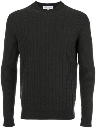 Salvatore Ferragamo ribbed round neck jumper