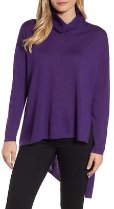 Eileen Fisher Asymmetrical Merino Wool Sweater