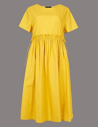Marks and Spencer Pure Cotton Drawcord Swing Dress