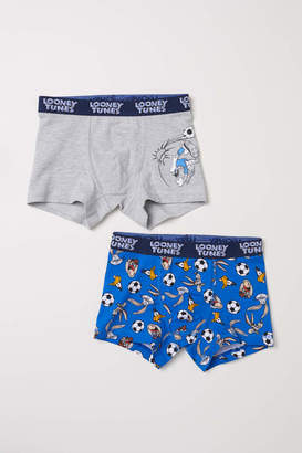 H&M 2-pack Boxer Shorts - Bright blue/Looney Tunes - Kids