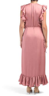 Shona Joy Australian Designed Luxe Ruffle Wrap Dress