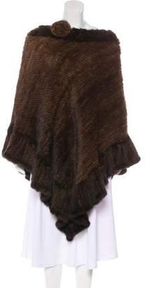 La Fiorentina Knit Mink Fur Cape