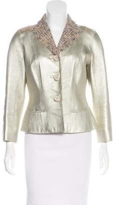 Louis Vuitton Metallic Leather Jacket