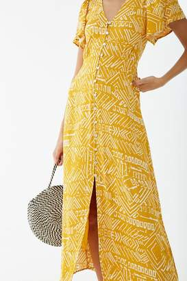 Forever 21 Abstract Print Midi Dress