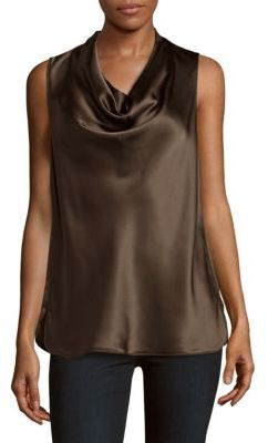 Solid Silk Tank Top $298 thestylecure.com