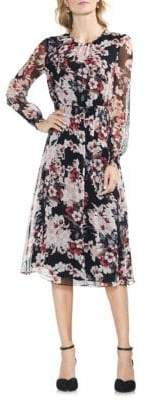 Vince Camuto Floral Knee-Length Dress