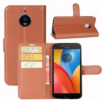 Motorola Kaka Moto E4 Plus Case, [All Around Protection] Premium PU Leather Wallet Flip Phone Protective Case Cover with Card Slots for 2017 Moto E Plus 4th Generation