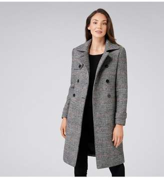 Ever New Emery Check Wool Trench Coat