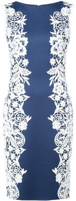 Tadashi Shoji floral embroidered fitted dress