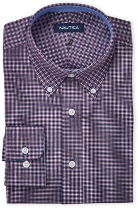 Nautica Berry Plaid Stretch Classic Fit Dress Shirt