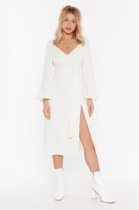 Nasty Gal All You Need is Puff Sleeve Midi Dress