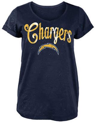 5th & Ocean Women's San Diego Chargers Script Logo T-Shirt