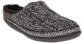 Toms New Womens Black Ivy Textile Slippers Vegan Slip On