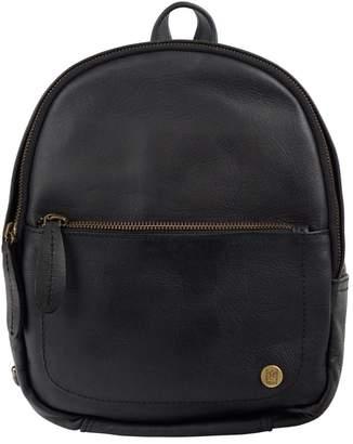 MAHI Leather - Mini Backpack In Ebony Black Full Grain Leather