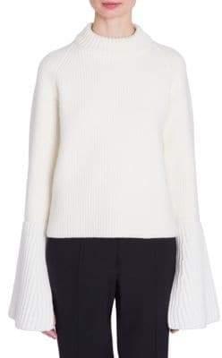 Jil Sander Wool& Cashmere Flare Cuff Sweater