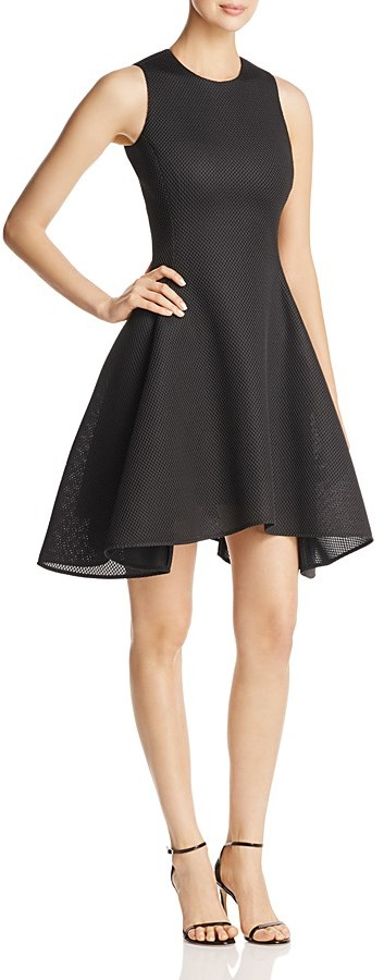 DKNYDKNY Mesh Fit and Flare Dress