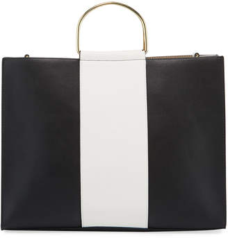 Neiman Marcus Pacey Ring-Handle Tote Bag