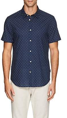 John Varvatos Men's Star-Print Cotton Shirt