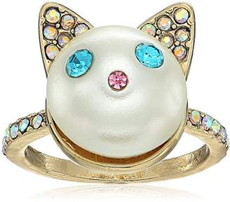Betsey Johnson Angel Cat Ring