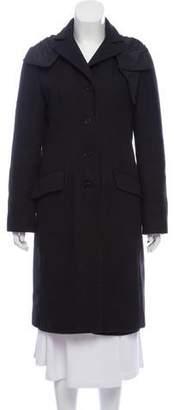 Miu Miu Hooded Wool Coat