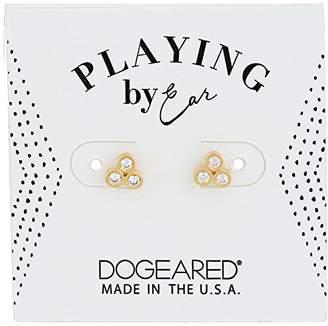 Dogeared Pe Cz Trio Studs Earrings