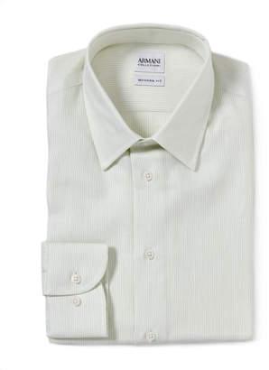 Armani Collezioni Light Green Modern Fit Dress Shirt