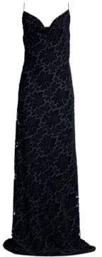 Black Halo Bessette Burnout Velvet Gown